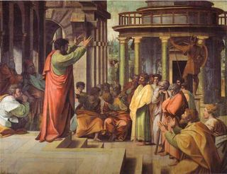 Raphael - Cartoon for St. Paul Preaching in Athens